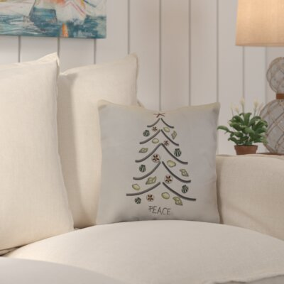 Decorative Holiday Geometric Print Throw Pillow Size: 18