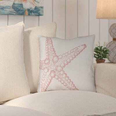 Brookline Nautical III Indoor/Outdoor Throw Pillow Size: 20 H x 20 W x 4 D, Color: Pink