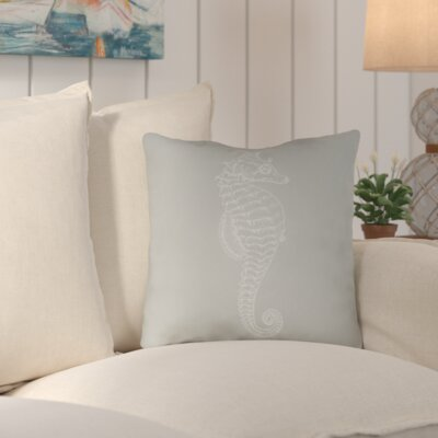 Brookline Seahorse Indoor/Outdoor Throw Pillow Size: 18 H x 18 W x 4 D, Color: Green