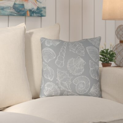 Brookline Shells III Indoor/Outdoor Throw Pillow Size: 20 H x 20 W x 4 D, Color: Slate