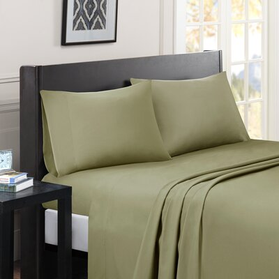 Calderwood Solid Sheet Set Size: Twin, Color: Green