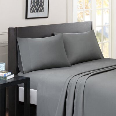 Calderwood Solid Sheet Set Size: King, Color: Gray