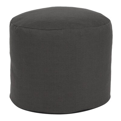 Delshire Tall Pouf Sterling Ottoman Color: Charcoal