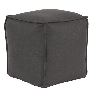 Vena Square Pouf Sterling Ottoman Color: Charcoal