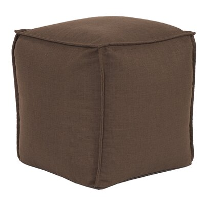 Glendale Square Pouf Sterling Ottoman Color: Chocolate