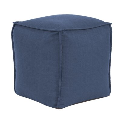 Glendale Square Pouf Sterling Ottoman Color: Indigo