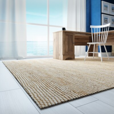 Worley Hand Woven Natural Area Rug Rug Size: Rectangle 9 x 12