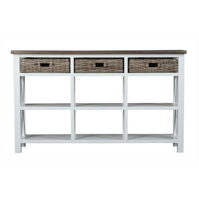 Cleveland Console Table Color: White