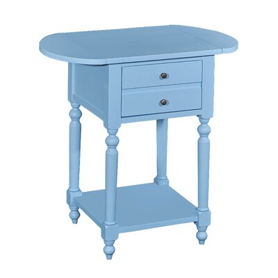 Tolland End Table Color: Ocean Blue