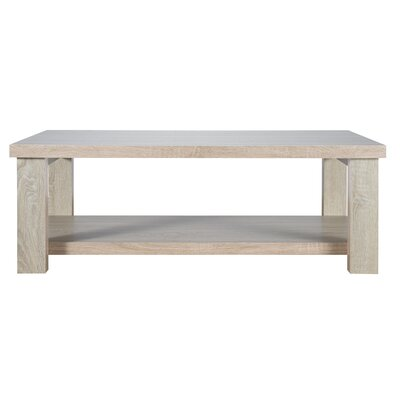 Hiland Park Coffee Table with Magazine Rack
