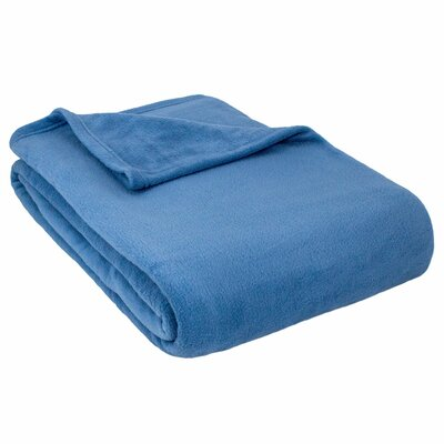 Barrett Fleece Blanket Size: Twin, Color: Denim