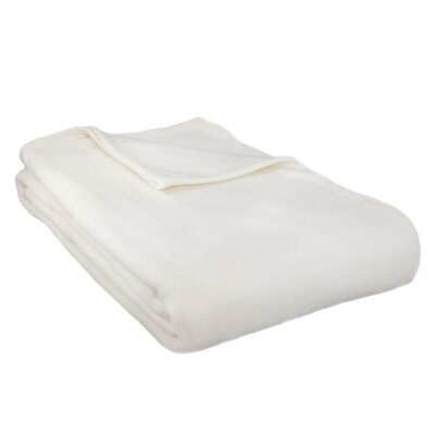 Barrett Fleece Blanket Size: Queen, Color: Ivory