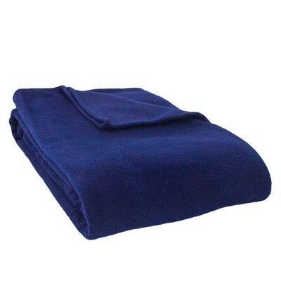 Barrett Fleece Blanket Size: Full, Color: Navy