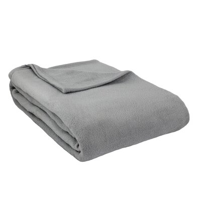Barrett Fleece Blanket Size: Full, Color: Silver