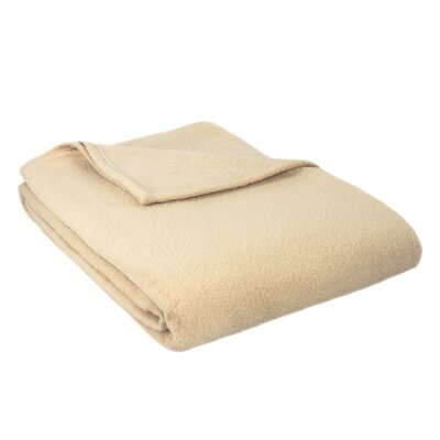 Barrett Fleece Blanket Size: Twin, Color: Tan