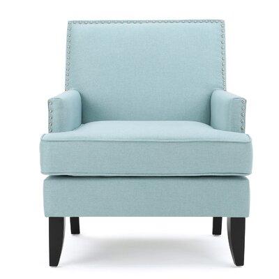Chilton Arm Chair Upholstery: Light Blue