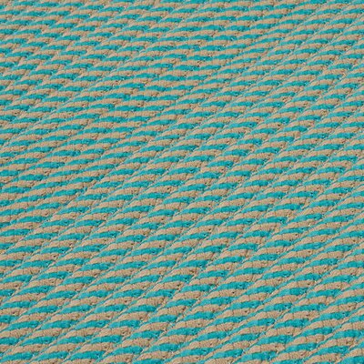 Mammari Hand-Woven Blue Indoor/Outdoor Area Rug Rug Size: Square 10