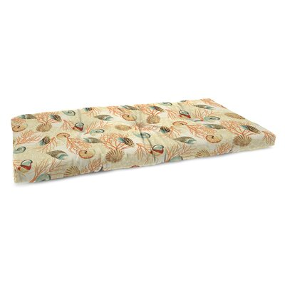Indoor Bench Cushion with Linen Upholstery Fabric: Shall We Dance Sandcastle
