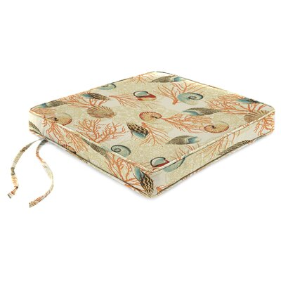 Indoor Chair Cushion with Linen Upholstery Fabric: Shall We Dance Sandcastle