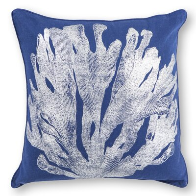 Nova Cotton Throw Pillow Color: Blue/Silver