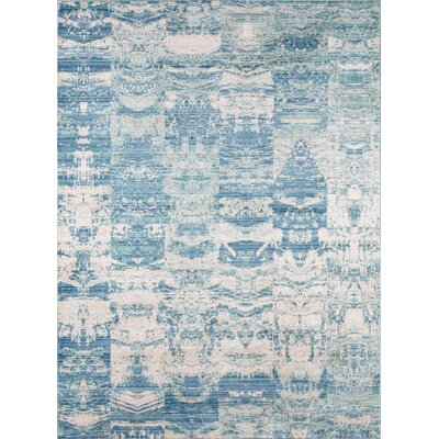 Bryne Blue/White Area Rug Rug Size: Rectangle 8 x 102