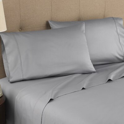 Harwood Organic 300 Thread Count Cotton Sheet Set Size: Twin, Color: Gray