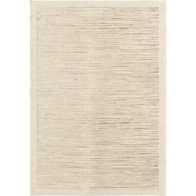 Masari Ivory Indoor/Outdoor Area Rug Rug Size: 51 x 76