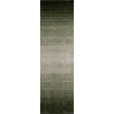 Clevenger Hand-Tufted Forest Green Area Rug Rug Size: Runner 23 x 8