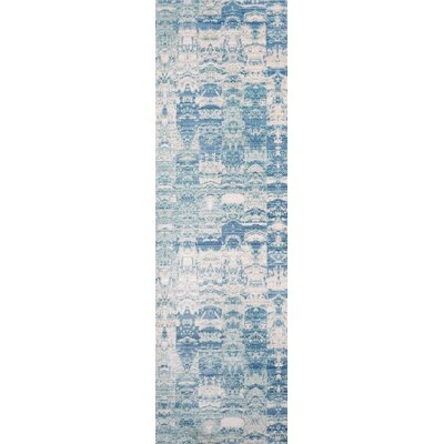 Bryne Blue/White Area Rug Rug Size: Runner 23 x 8
