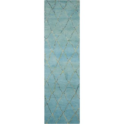 Mahoney Handmade Wave Area Rug Rug Size: Runner 23 x 8