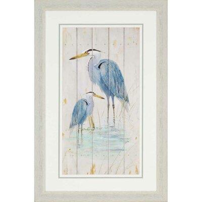 'Blue Heron Duo' Graphic Art
