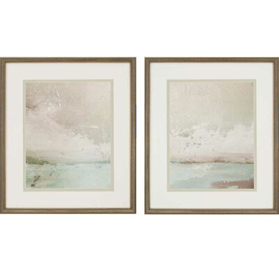 'Eastern Shore' 2 Piece Framed Painting Print Set