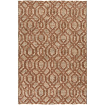 Cheyney Hand Woven Brown/Beige Area Rug Rug Size: Rectangle 5 x 76