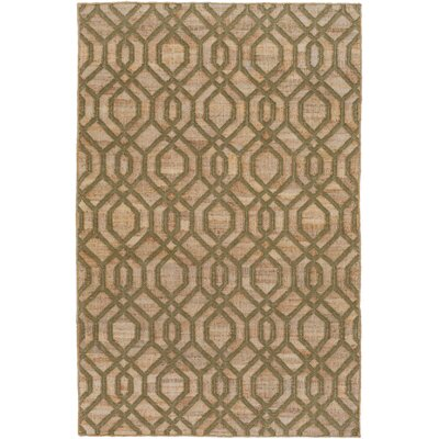 Cheyney Hand Woven Green/Beige Area Rug Rug Size: Rectangle 5 x 76