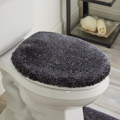 Ashmoore Spa Toilet Lid Cover Color: Iron, Size: 16.5 W x 18.5  L