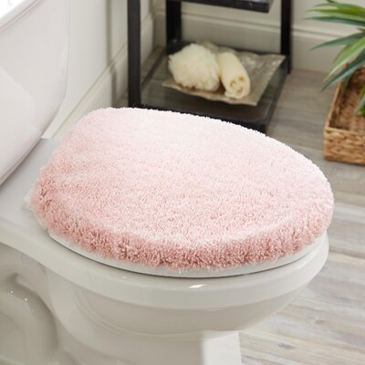 Ashmoore Spa Toilet Lid Cover Color: Rose, Size: 17.4 W x 21.25  L