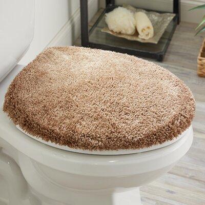 Ashmoore Spa Toilet Lid Cover Color: Latte, Size: 17.4 W x 21.25  L
