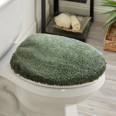 Ashmoore Spa Toilet Lid Cover Color: Sage Green, Size: 17.4 W x 21.25  L