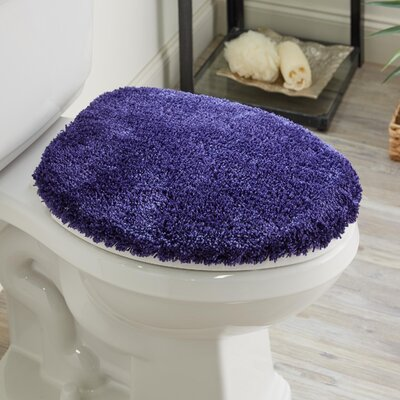 Ashmoore Spa Toilet Lid Cover Color: Grape, Size: 17.4 W x 21.25  L