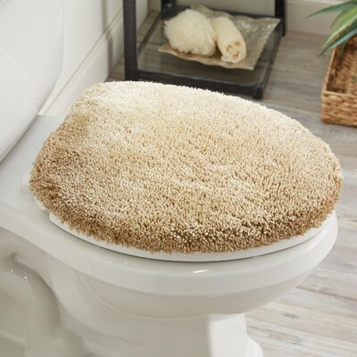 Ashmoore Spa Toilet Lid Cover Color: Oat, Size: 17.4 W x 21.25  L