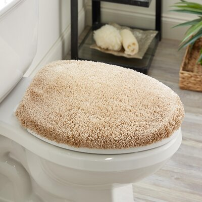 Ashmoore Spa Toilet Lid Cover Color: Sand, Size: 16.5 W x 18.5  L