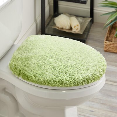 Ashmoore Spa Toilet Lid Cover Color: Pear, Size: 17.4 W x 21.25  L