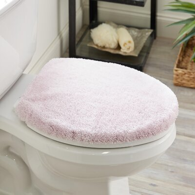 Ashmoore Spa Toilet Lid Cover Color: Orchid Ice, Size: 16.5 W x 18.5  L