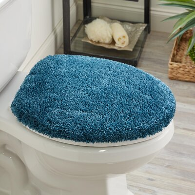 Ashmoore Spa Toilet Lid Cover Color: Teal, Size: 16.5 W x 18.5  L