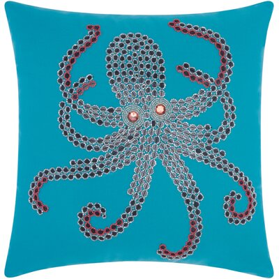 Octopus Indoor/Outdoor Throw Pillow Color: Turquoise