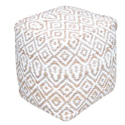 Faulkwoods Pouf Ottoman Upholstery: Ivory