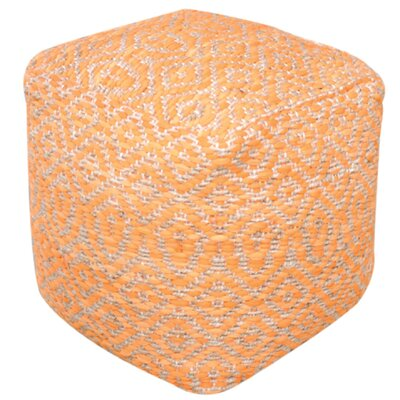 Sheldon Pouf Ottoman Upholstery: Orange