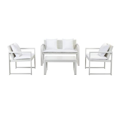 Hampshire 4 Piece Lounge Seating Group with Cushion