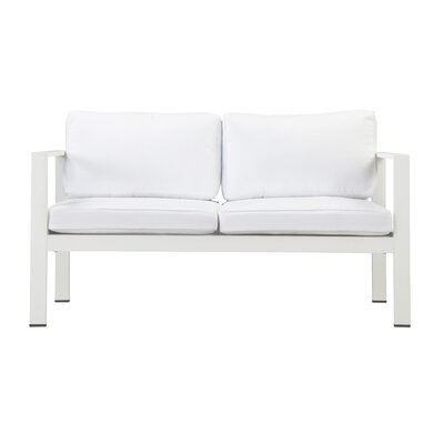 Hillwood Loveseat with Cushions Finish: White