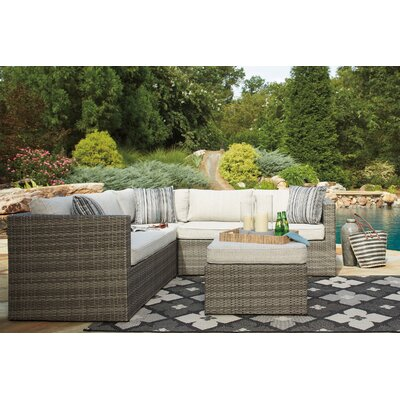 Lake Placid Sectional with Ottoman